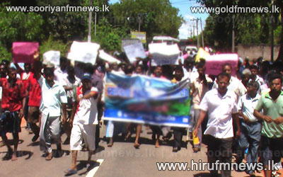 Protests+in+Ampara+against+wild+elephant+menace+-++Natural+fence+to+replace+electric+fence