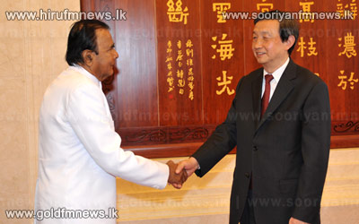 Chinese vice premier meets Prime Minister D M Jayarathne.