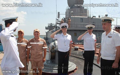 Two+Russian+naval+ships+arrive+at+Sri+Lanka+port+on+a+goodwill+visit