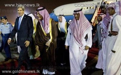 John+Kerry+arrives+in+Saudi+Arabia+to+smooth+ties