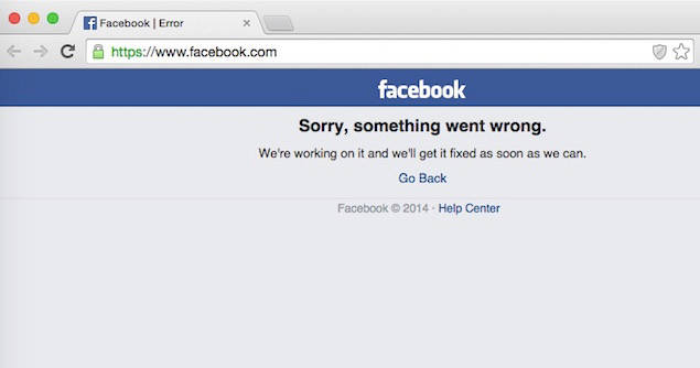 Facebook+Down