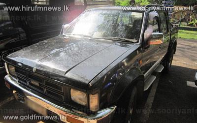 Police+recovers+2+vehicles+from+Sajin+Vaas%27+Secretary%27s+house.