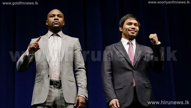 Floyd+Mayweather+%26+Manny+Pacquiao+face+off+in+Los+Angeles
