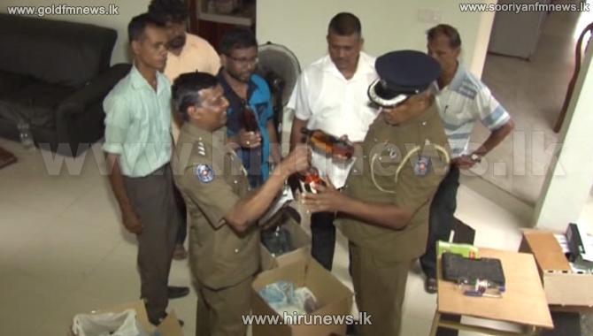 Peliyagoda+police+busts+an+illegal+foreign+liquor+racket+