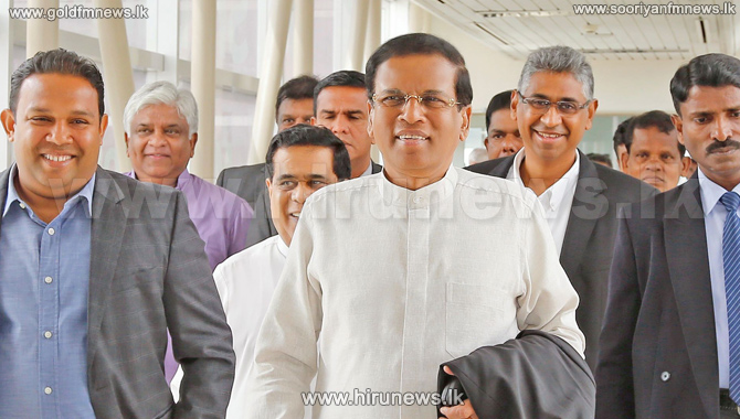 President+Maithripala+Sirisena+arrives+in+New+York