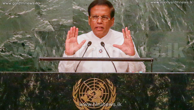 President+Sirisena+addresses+the+71st+Session+of+the+United+Nations+General+Assembly%3B+stresses+on+the+importance+of+peace+