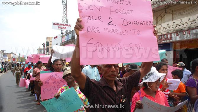 Protest+against+CV+Vigneswaran+in+Vavuniya+
