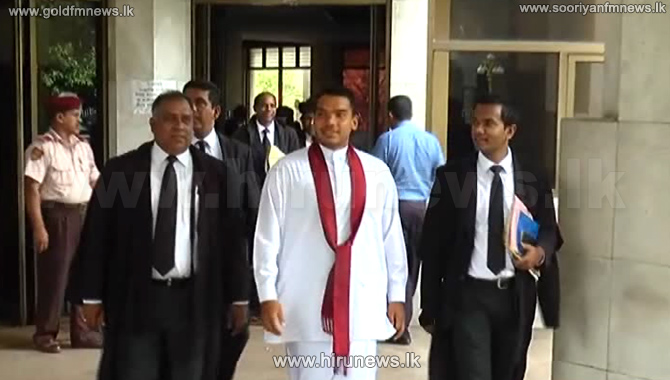 MP+Namal+Rajapaksa+demands+Rs.+200+million+as+compensation+from+the+FCID+