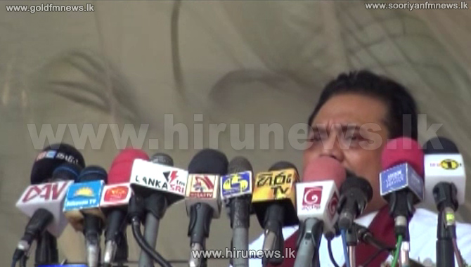 Mahinda+Rajapaksa+speaks+about+the+new+constitution+