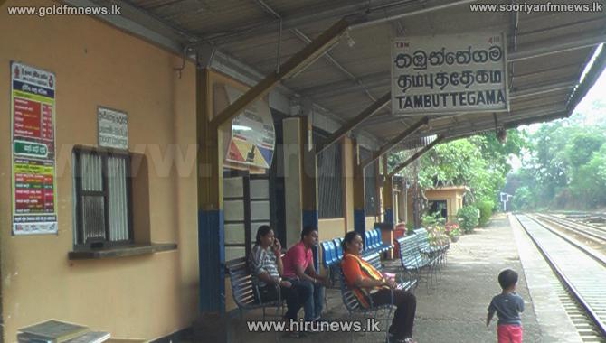 Vandals+attack+Thambuththegama+Railway+Station