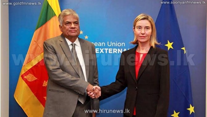 European+Commissions+Vice+President+meets+Premier+Ranil+Wickremesinghe+in+Brussels