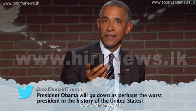 Barack+Obama+Taunts+Trump%2C+Reads+Mean+Tweets+on+%27Kimmel%27