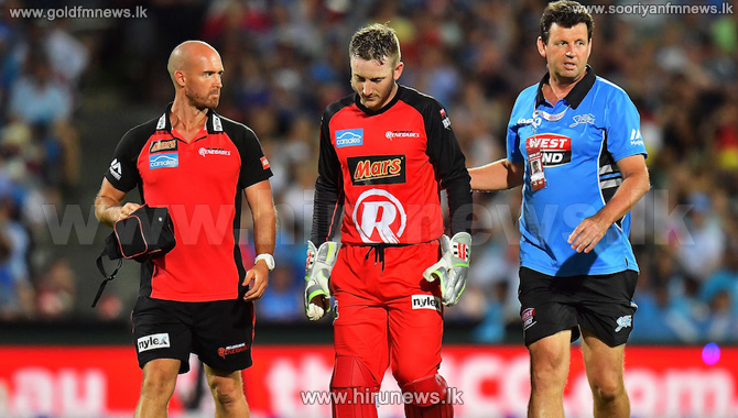 Peter+Nevil+struck+in+the+face+by+Brad+Hodge%27s+flying+bat