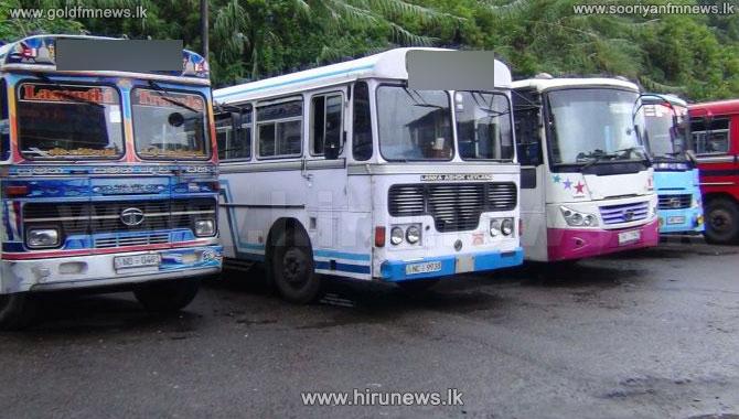 Private+bus+strike+on+Minuwangoda-+Colombo+route+