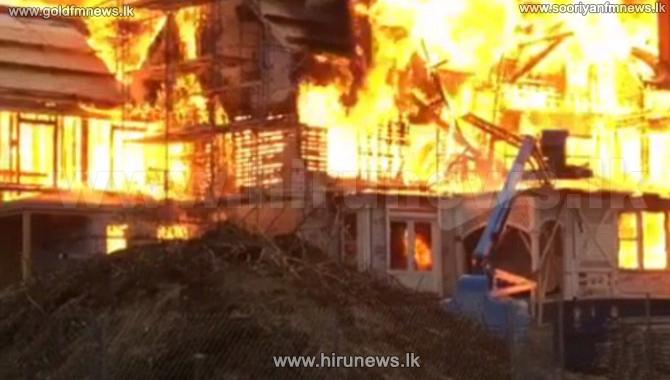 Fiber+Manufacturing+Factory+in+Matara+catches+fire+