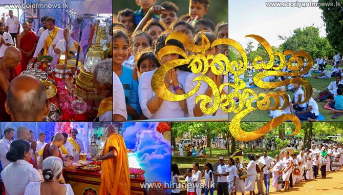 Millions+gather+at+Jethawanaramaya+Temple+for+Hiru+Uththama+Dathu+Vandana