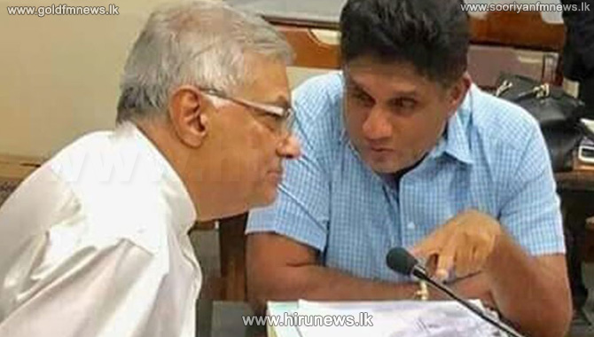 Prime+Minister+Ranil+and+Minister+Sajith+in+a+decisive+discussion+today