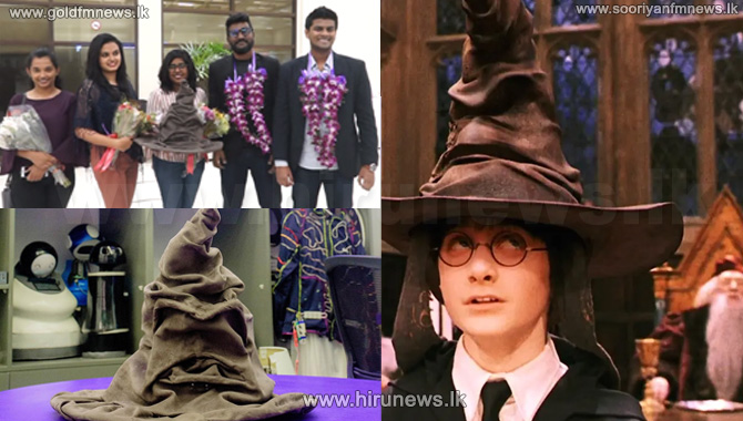 A+group+of+Sri+Lankan+students+create+the+sorting+hat+of+the+Harry+Potter+movie