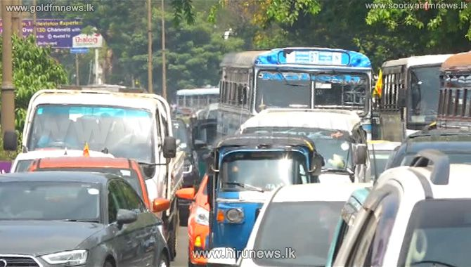 TRAFFIC+CONGESTION+ON+THE+PANADURA+%E2%80%93+COLOMBO+OLD+ROAD+AS+A+RESULT+OF+A+PROTEST