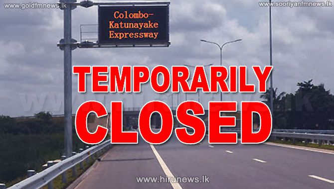 Katunayake+Expressway+temporarily+closed+between+Katunayake+%26+Ja-Ela