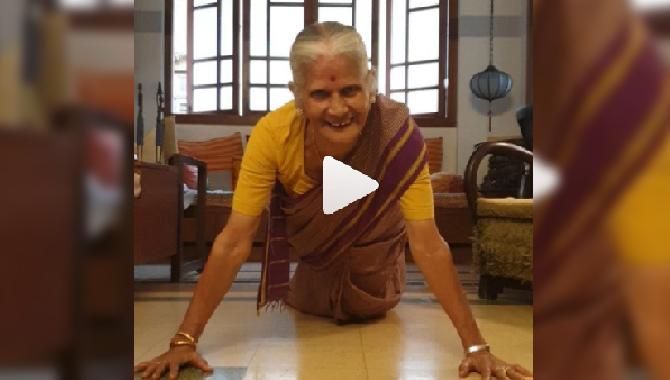 81 வயதில் புஷ்அப்ஸ் எடுத்த பிரபல நடிகரின் தாயார் ... வைரலாகும் வீடியோ