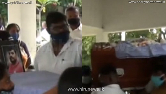 Tense situation at the funeral of a Sri Lankan who died in Saudi (Video)