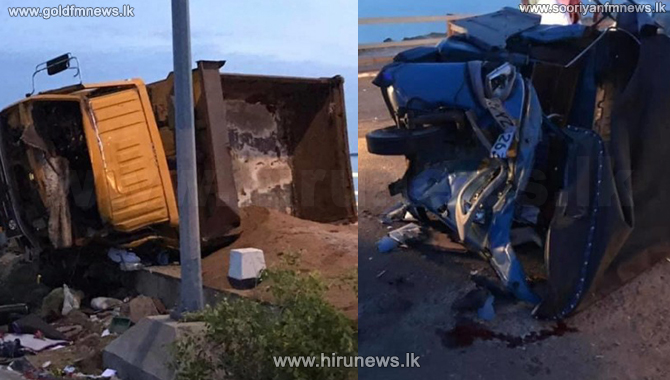 Two election candidates among seriously injured in Kilinochchi road mishap (pictures)