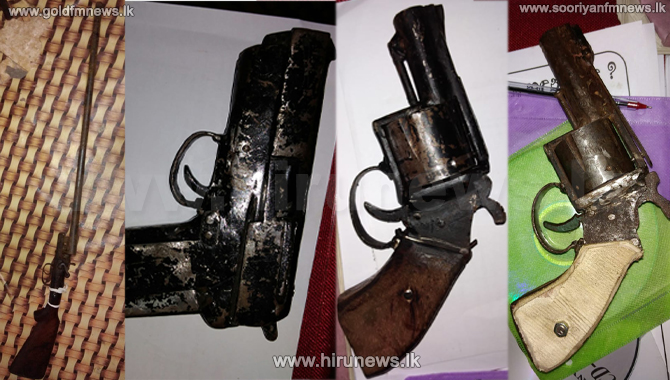 Two arrested with firearms in Meetiyagoda