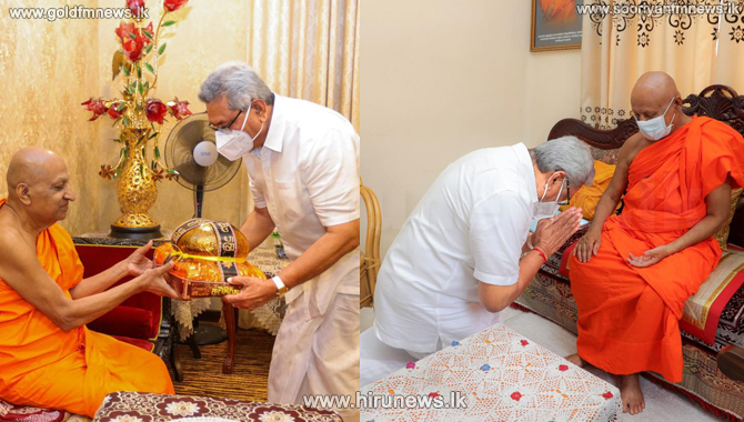 President pays homage to sacred tooth relic at Dalada Maligawa