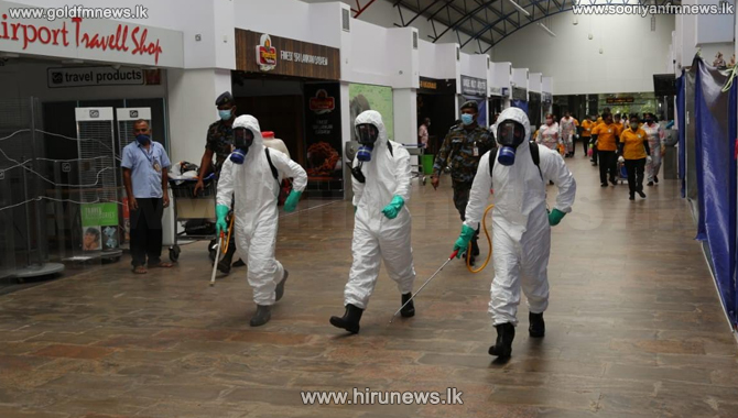 Katunayake Airport disinfected (pictures)