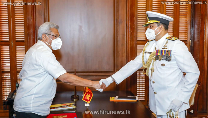New Navy chief meets president