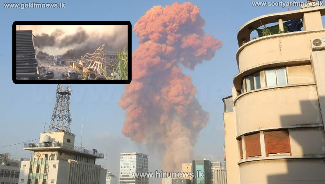 Explosion rocks Beirut, the capital of Lebanon (video)