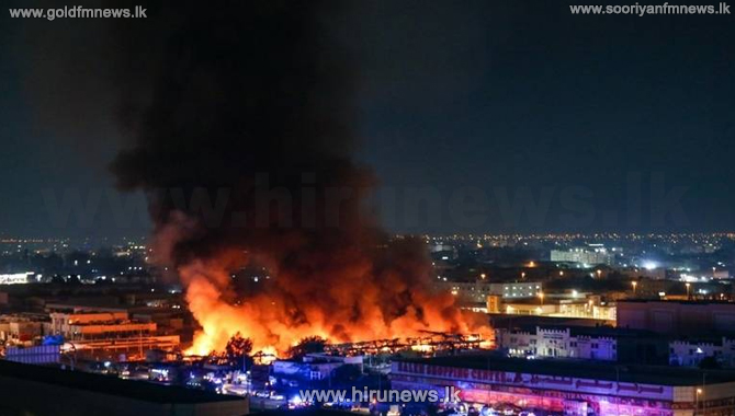 Massive fire at a supermarket in Ajman, United Arab Emirates