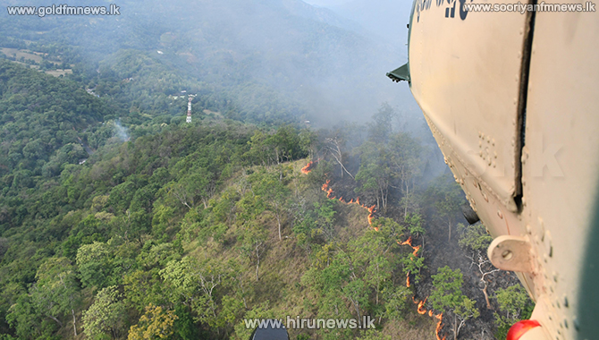 Bell 212 helicopter to douse fire in Randenigala reserve (Photos)