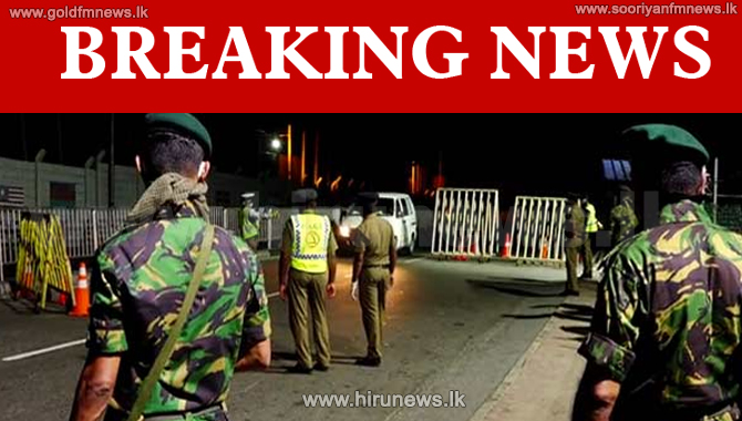 Curfew Update : Police Curfew in Kotahena from 6.00pm today