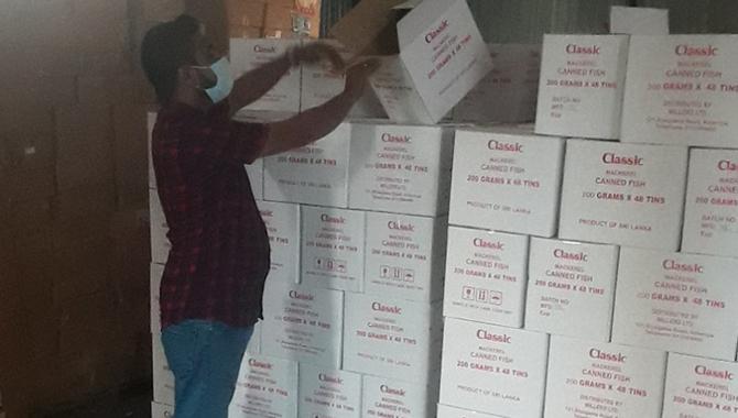 Canned fish worth Rs. 5 m sealed at Mundalama