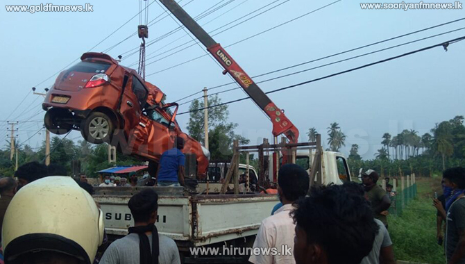 One dead after speeding car hits electricity post (pictures)