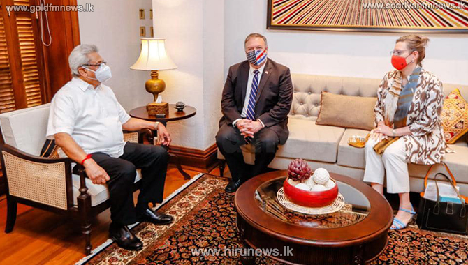 Sri Lanka not in debt trap due to China's postwar help, Pompeo told