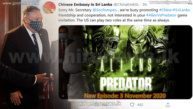 Chinese Embassy responds to 'predator' allegations by the US State Secretary (Video)