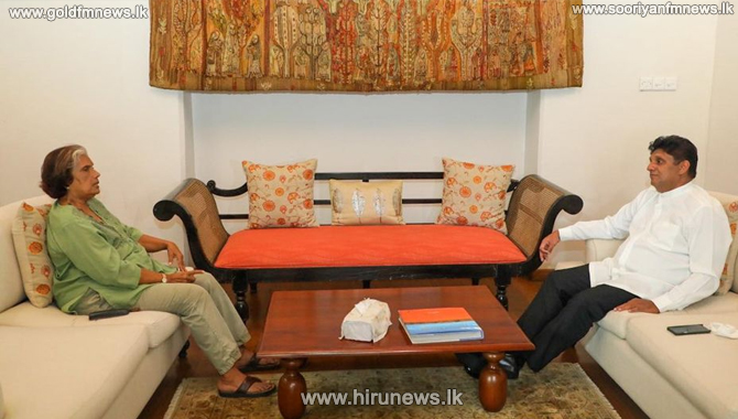 Former president Chandrika meets with opposition leader