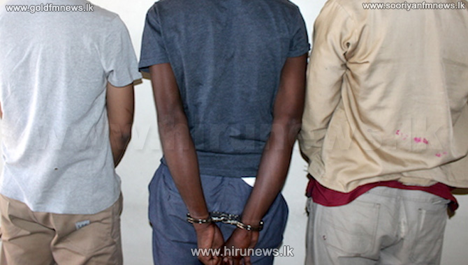 Three suspects arrested with firearms in Moneragala