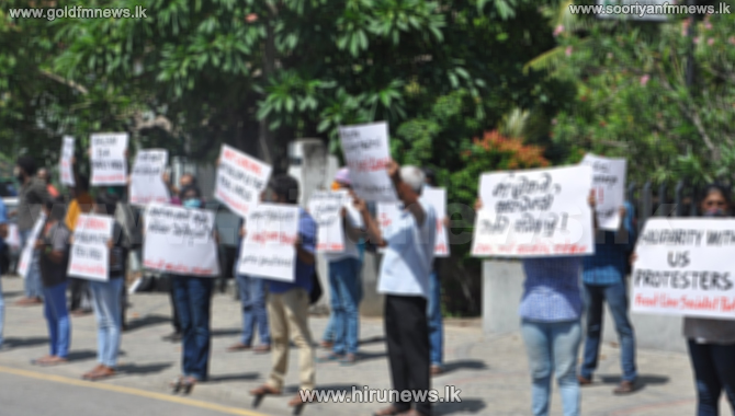 'The Finance' Depositors stage a protest