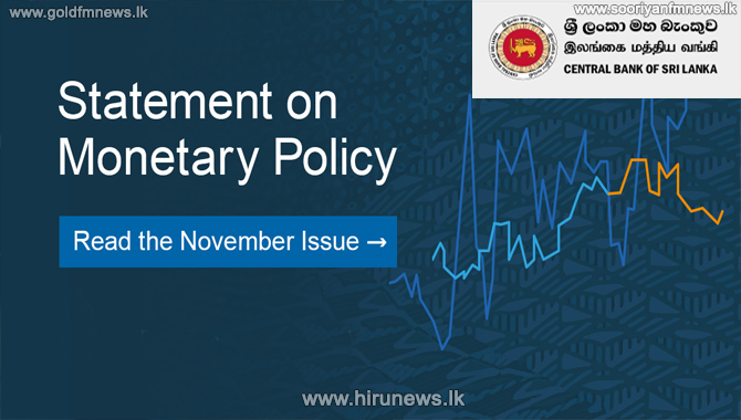 Monetary Policy Review: November 2020 - CBSL continues its accommodative monetary policy stance