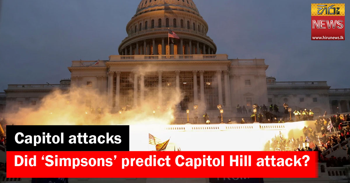 Did 'Simpsons' predict Capitol Hill attack?