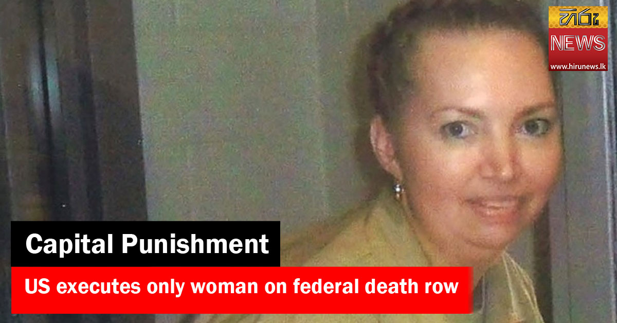 US+executes+only+woman+on+federal+death+row