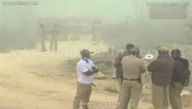 சிவமொக்கா பகுதியில் பாரவூர்தியில் ஏற்பட்ட வெடி விபத்தில் 5 பேர் பலி..!