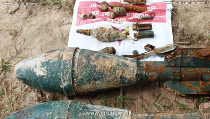 Several war-era weapons recovered in Mullaitivu jungle