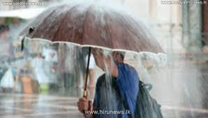 Showers or thundershowers expected over most parts of the Island