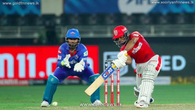 Punjab Kings batting first scores 195/4
