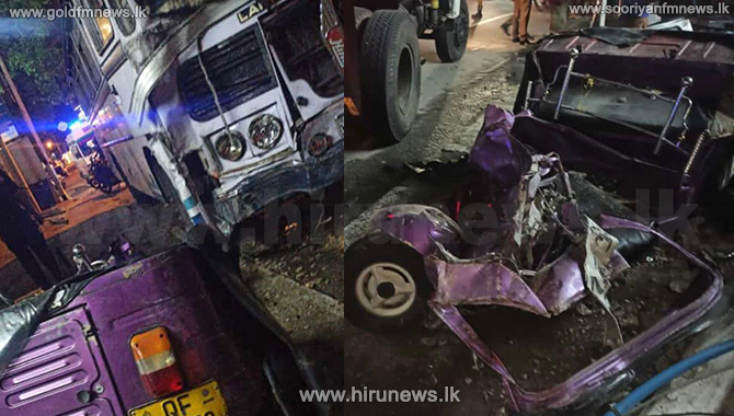 Three killed in Nugegoda vehicle collision (Video)